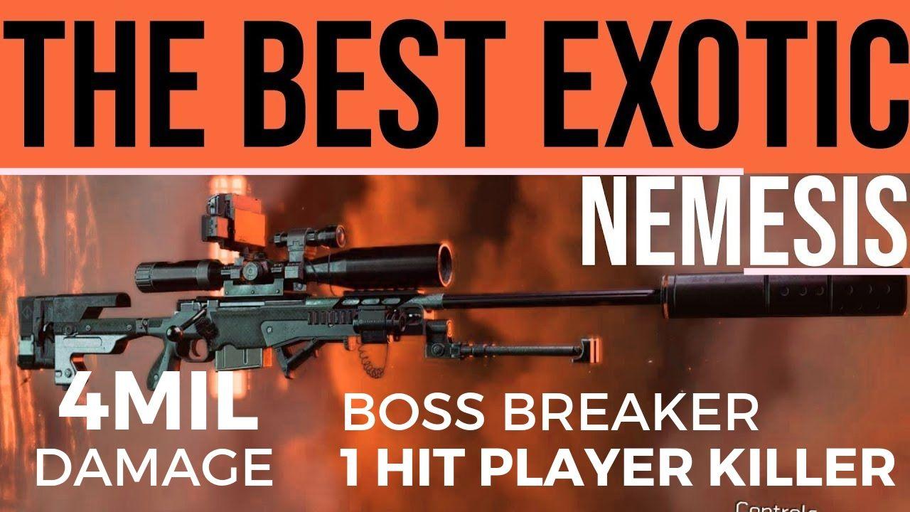 The Division 2's Nemesis Exotic Sniper Rifle Makes The Signature