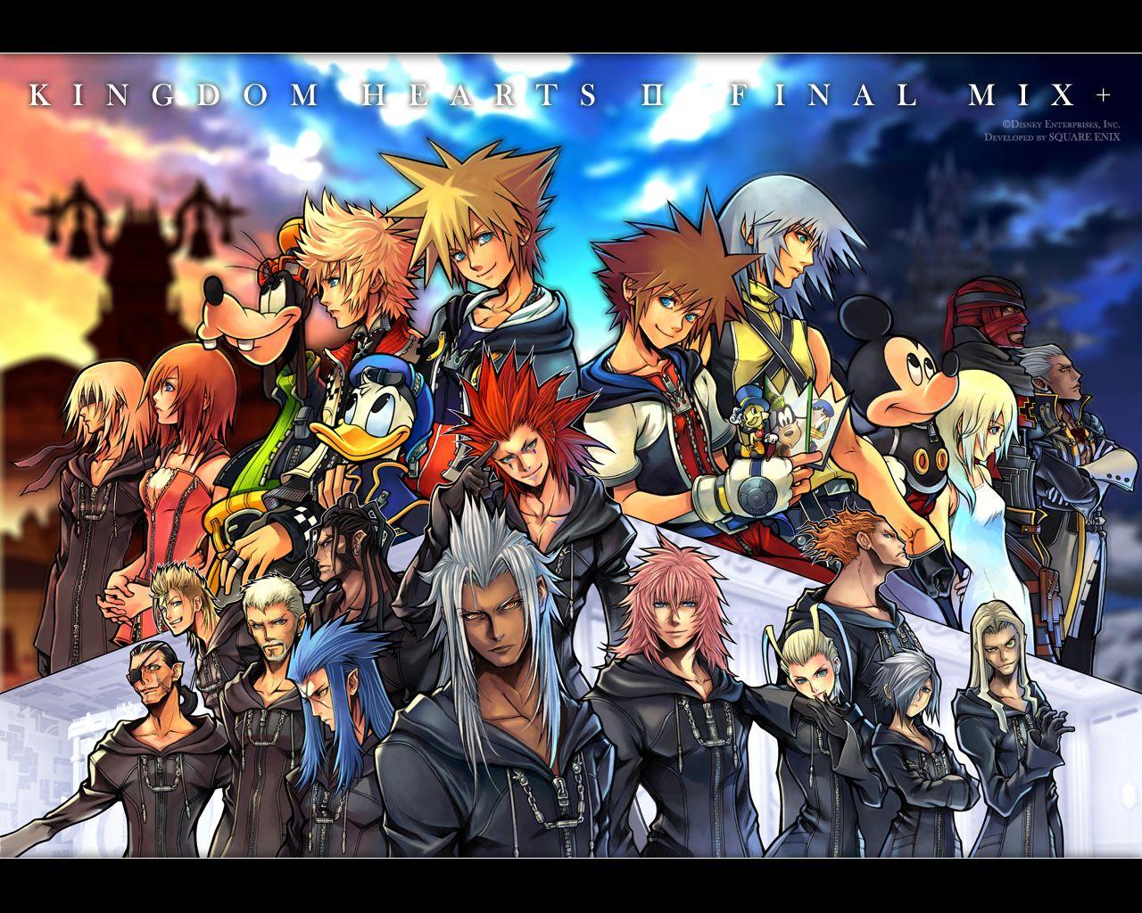 Kingdom Hearts Ii Final Mix On The Horizon Kingdom Hearts Wallpaper Kingdom Hearts Characters Kingdom Hearts Hd