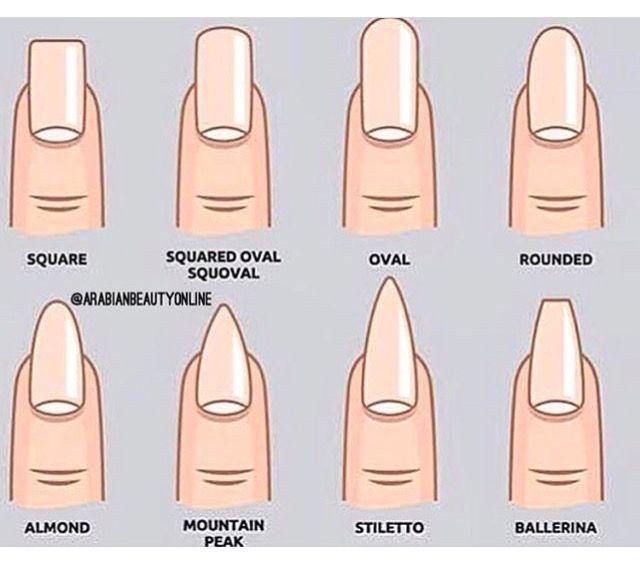 Nail Shape Style Names