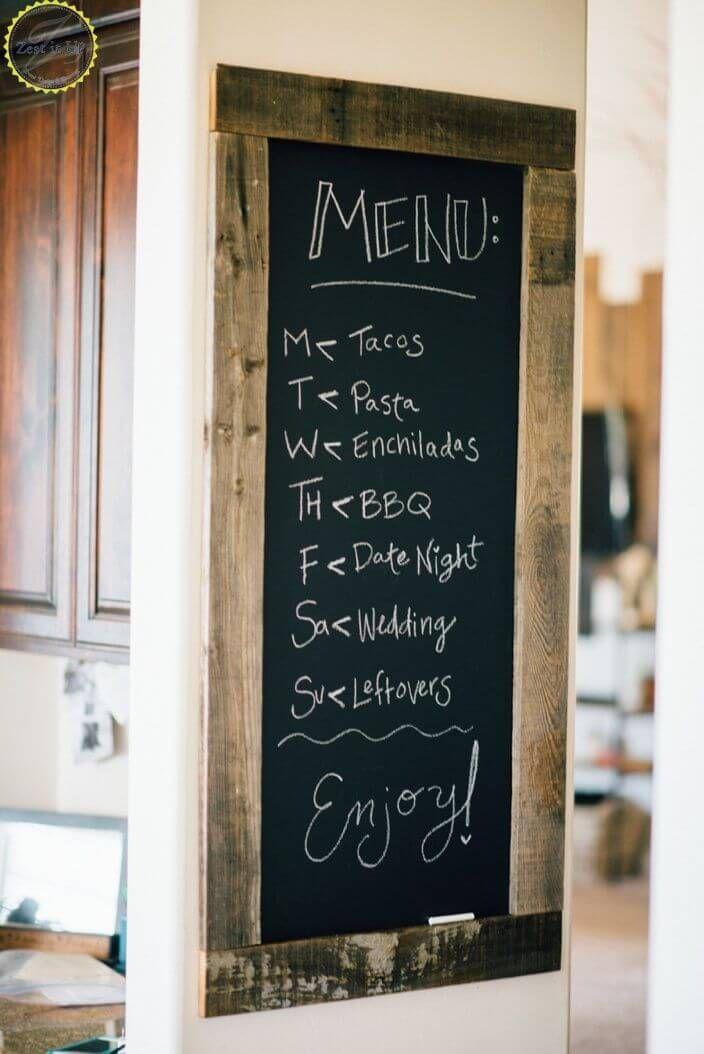 36 Pretty Kitchen Wall Decor Ideas To Stir Up Your Blank Walls Chalkboard Wall Kitchen Kitchen Chalkboard Diy Kitchen Projects
