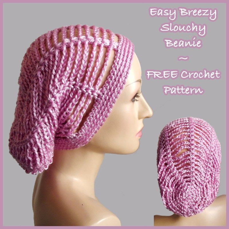 Easy Breezy Slouchy Beanie Crochetn Hatsmenwomenchildrens