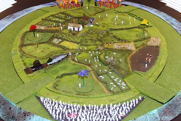 London 2012 opening Ceremony - England's green and pleasant land.