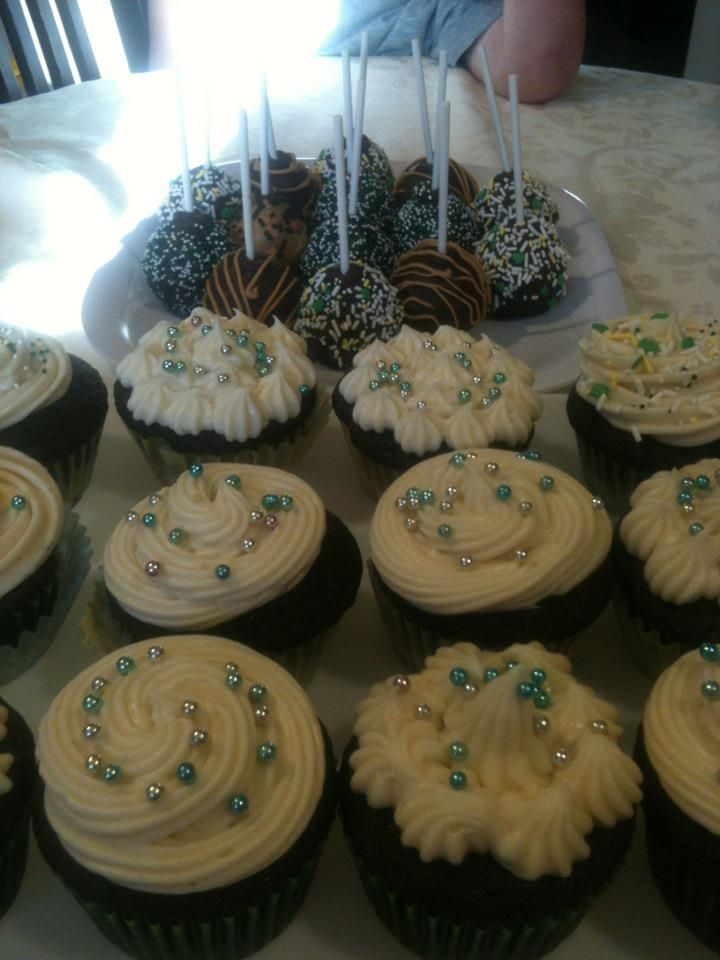 Chocolate Guinness Cupcakes with Guinness frosting St Patrick's day