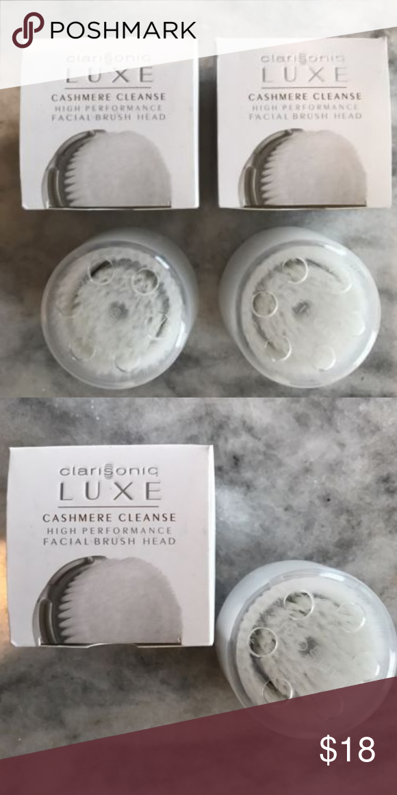 2 X Clarisonic Replacement Brush Head Luxe Brushes Clarisonic Luxe
