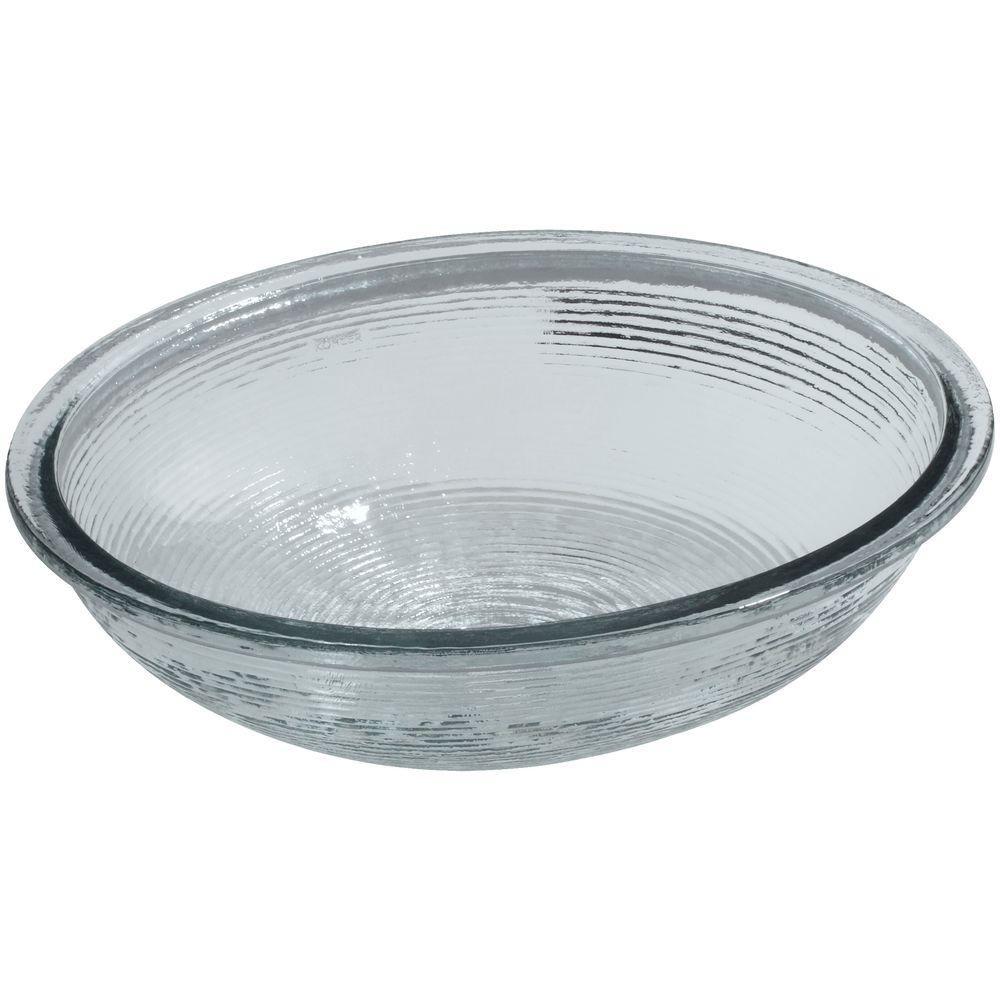 Kohler Whist Undermount Glass Bathroom Sink In Ice White Ice