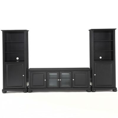 Crosley Alexandria 60 Inch Low Profile Tv Stand With Two 60 Inch Audio Piers Bedba Low Profile Tv Stand Crosley Furniture Tv Stands And Entertainment Centers