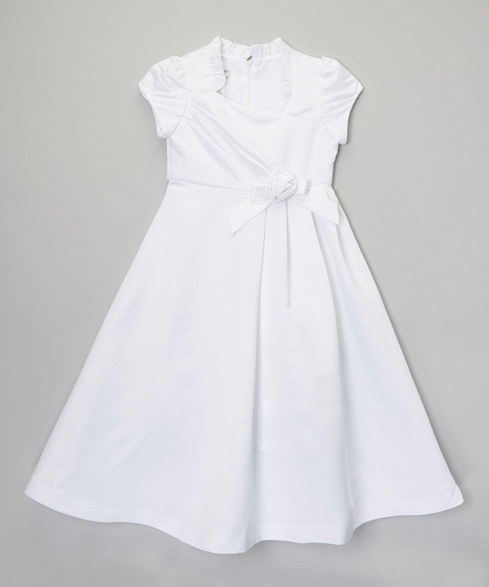 Love this rosenau beck white ruffle bow dress girls by rosenau