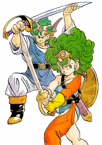 Dragon Quest 4 Hero And Heroine Art By Akira Toriyama Dragonquest Dragon Quest Akira Dragon