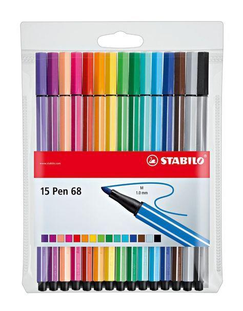 Stabilo Point 88 Wallet 15-Color Set 3-Pack 15-Color Wallet Set