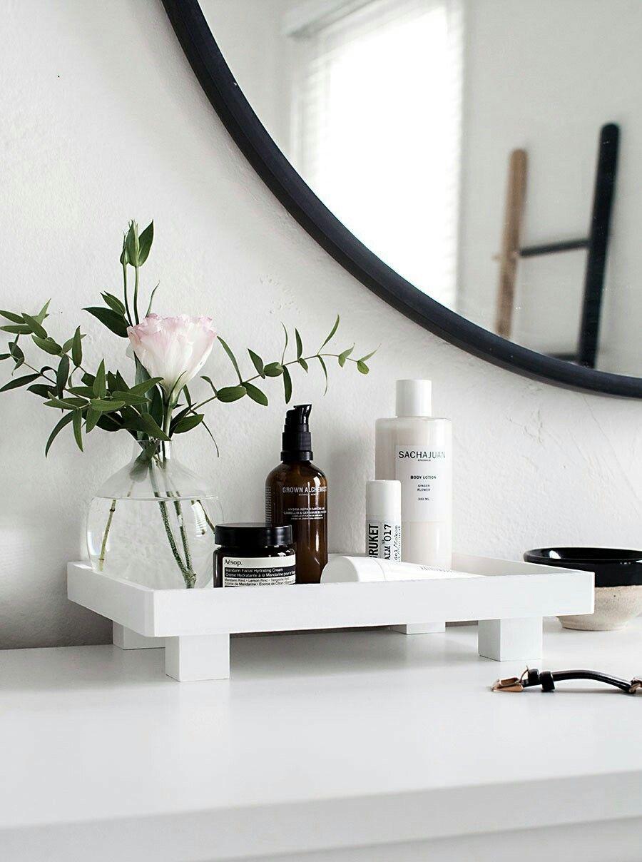 Diy Bathroom Tray Organizer Banyo Duzenleme Kendin Yap Ev Oda Dekoru