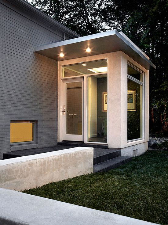 East Jefferson Residence Contemporary Exterior Dc Metro Kube Architecture Porch Design Modern Front Porches Contemporary Exterior Mid century modern front porch