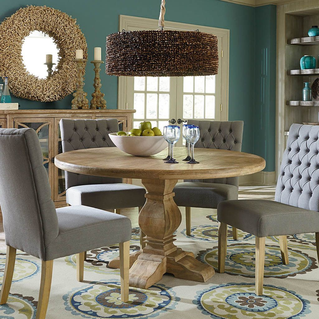 San Rafael Round Dining Table Round Dining Table Round Dining Room Sets Dining Table