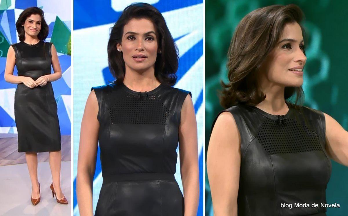 moda do programa Fantástico - look da Renata Vasconcellos dia 1ºde junho