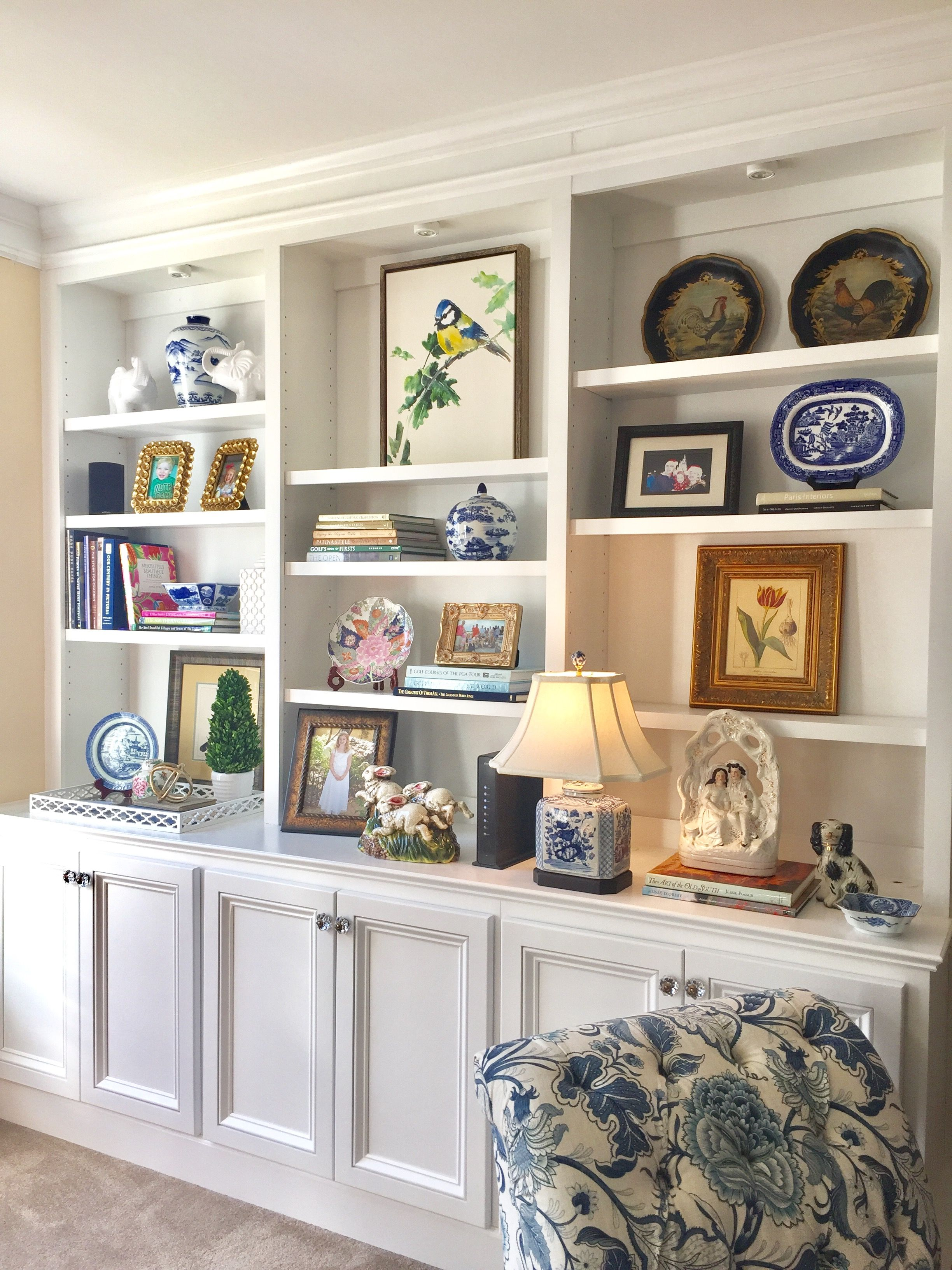 Bookshelves Blue And White Southern Style Hg2017 Book