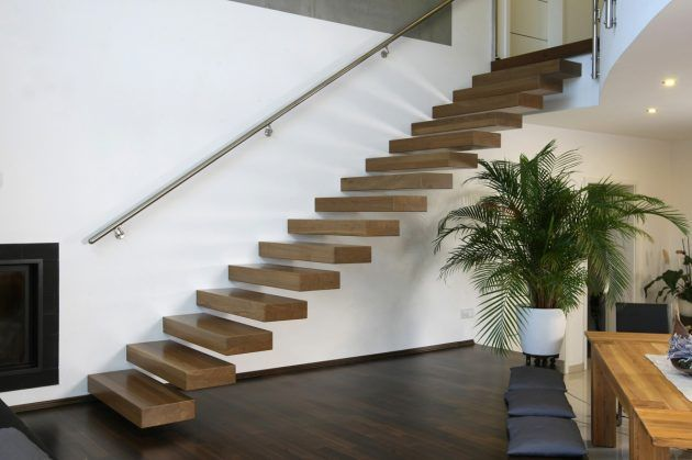 Treppe Ohne Geländer treppenbau offene treppe treppe ideen und moderne treppe
