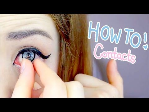 Hey Everyone Seeing As I Wear Circle Lenses All The Time I Thought I D Show You Guys The Apparently Weird Wa Contact Lenses Tips Contact Lenses Circle Lenses