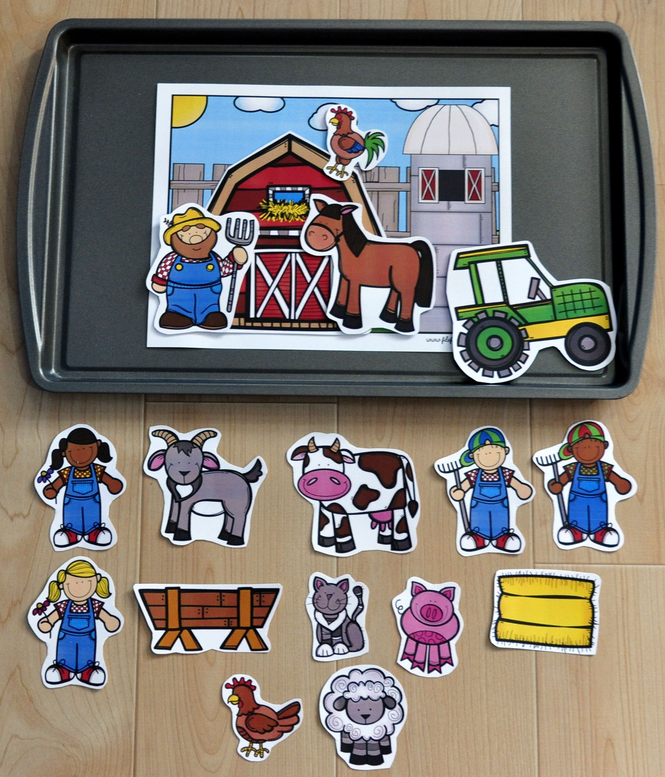 Farm Cookie Sheet Activities 2 With Images