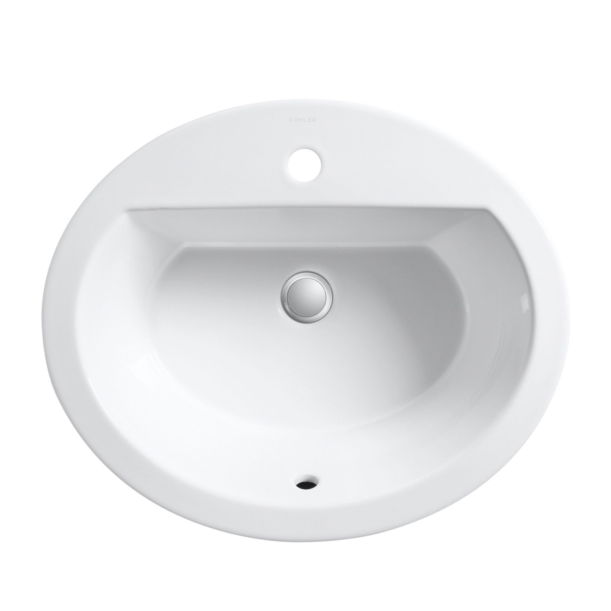 Bryant Ceramic Oval Drop In Bathroom Sink With Overflow Drop In