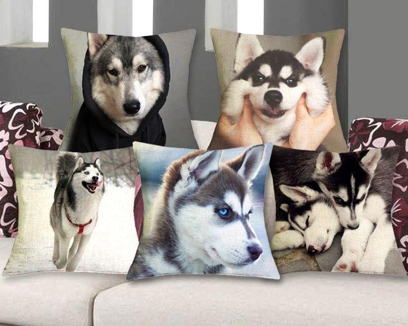 Siberian Alaska Husky Dog Lovers Pillow Case Gift Bedroom Sofa
