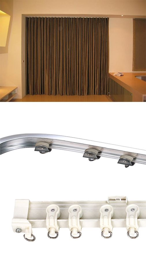 Hotel Project Straight Or Bendable Curtain Rail