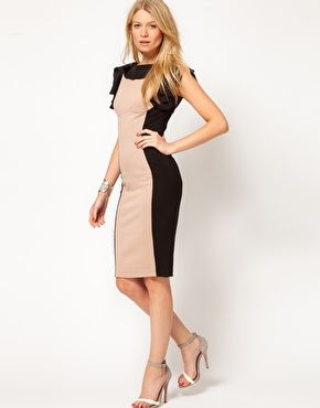 Enlarge Ted Baker Dress With Contrast Ruffle Shoulder  12a214c88