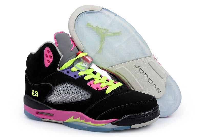 "outlet store e3887 0376c Air Jordan Women Shoes Womens Air Jordan 5 Black Neon Green Womens Air Air  Jordan 5 Retro ""Green Bean"" 2006 ..."