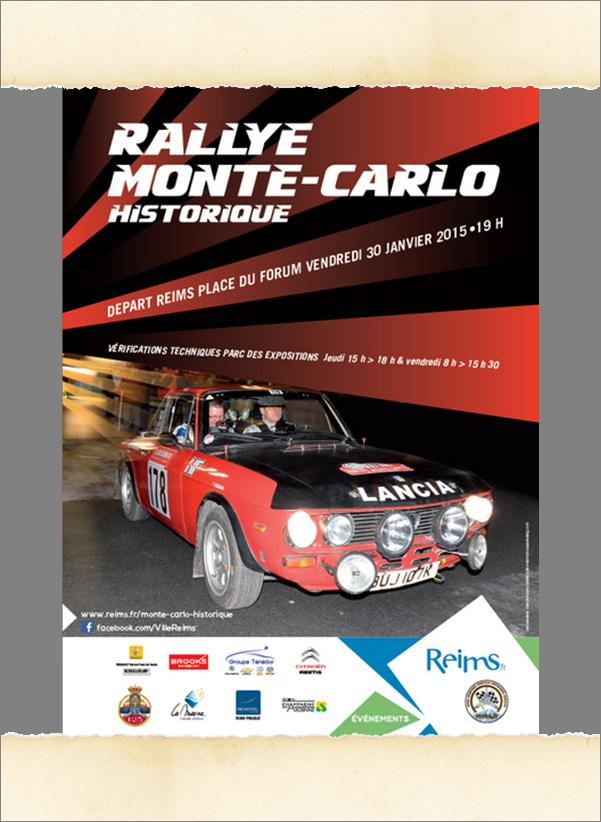 Rallye Monte-Carlo Historique 2015 départ de Reims