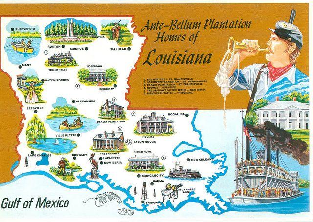 Map Of Louisiana Plantation Homes.Map Of Louisiana Plantation Locations Collection Galleries