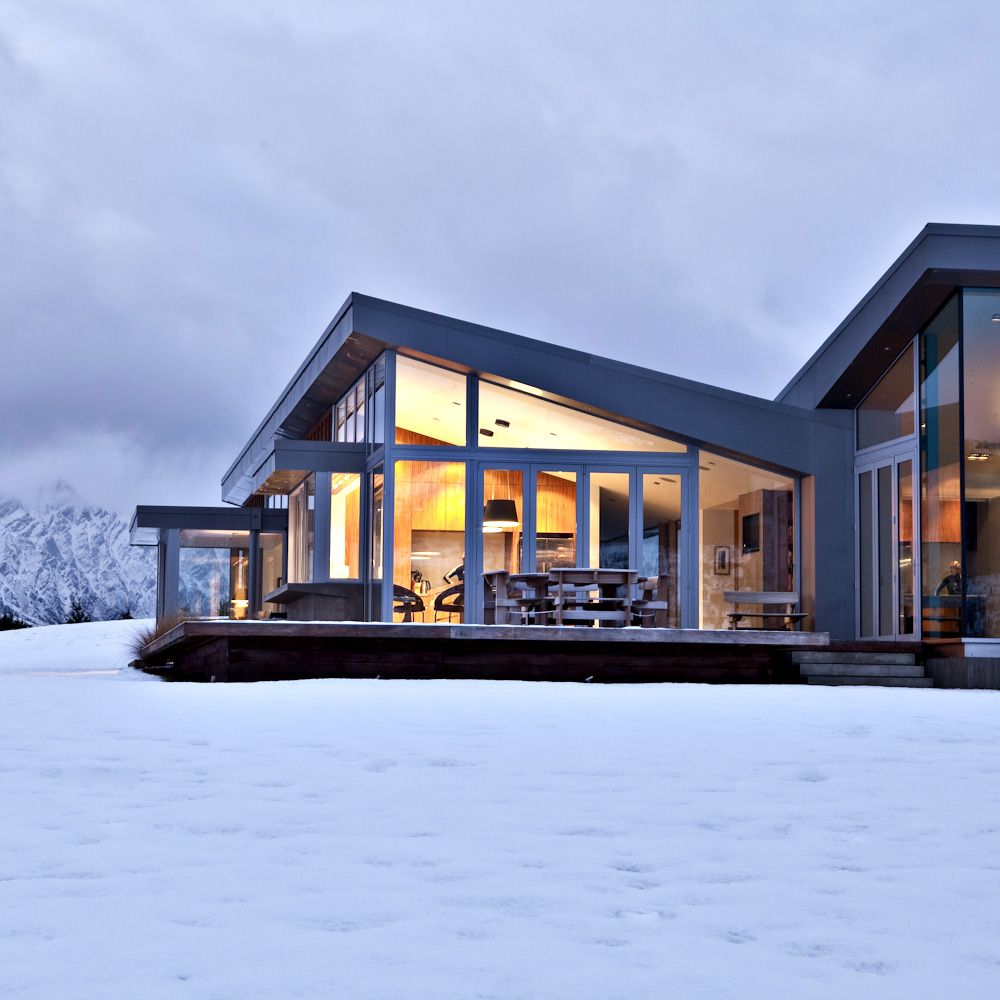 15 Phenomenal Mediterranean Exterior Designs Of Luxury Estates: Koia Architects - Dalefield In Snow Queenstown