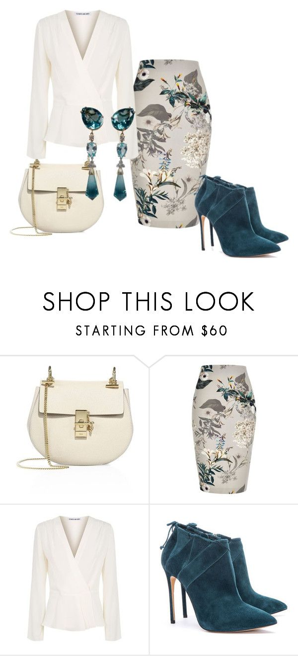 """Untitled #434"" by amy-hille ❤ liked on Polyvore featuring Chloé, River Island and Elizabeth and James"
