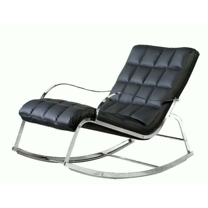 Modern Black Bonded Leather Rocking Chair Photo: Modern Rocking .