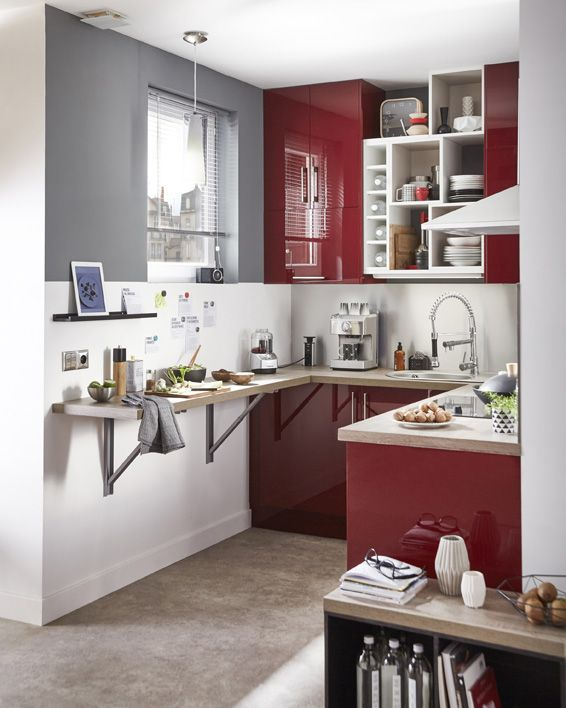 Une cuisine dans une pi ce xxs c 39 est possible little - Modele cuisine equipee leroy merlin ...