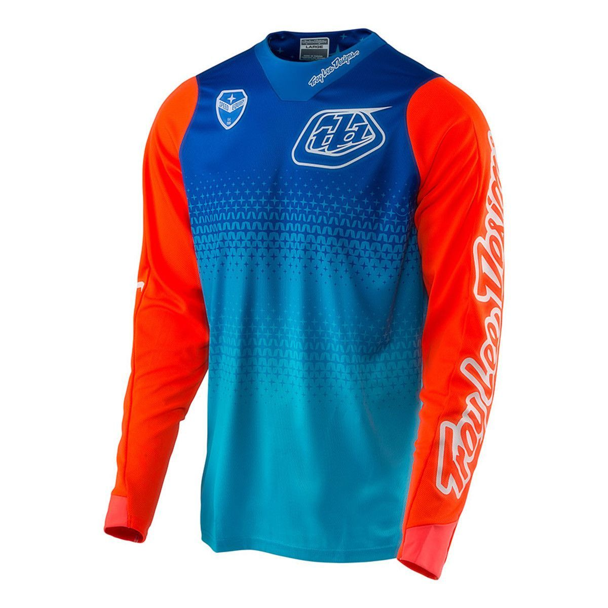 Blue And Red Long Sleeve Mtb Jersey Sport Shirt Design Outdoor