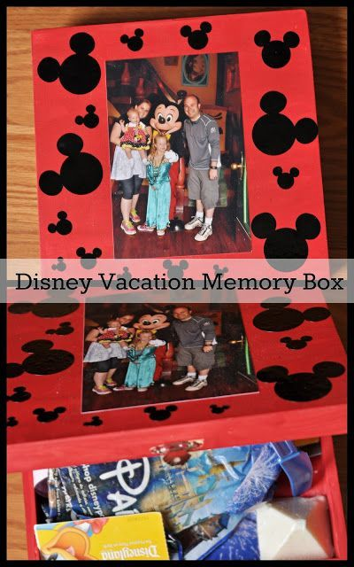 Housewife Eclectic: Disney Vacation Memory Box. A cute DIY project to store all of your Disney memories.: