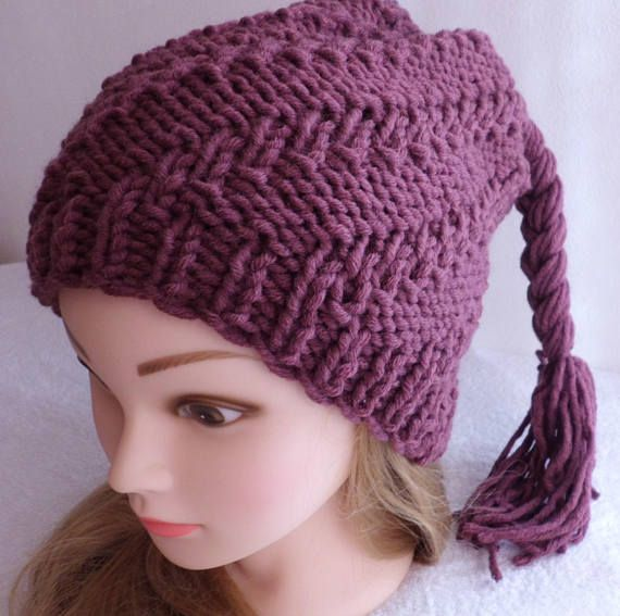 Trendy Violet Cable Knit Warm Women Beanie 645bbbc96bd3