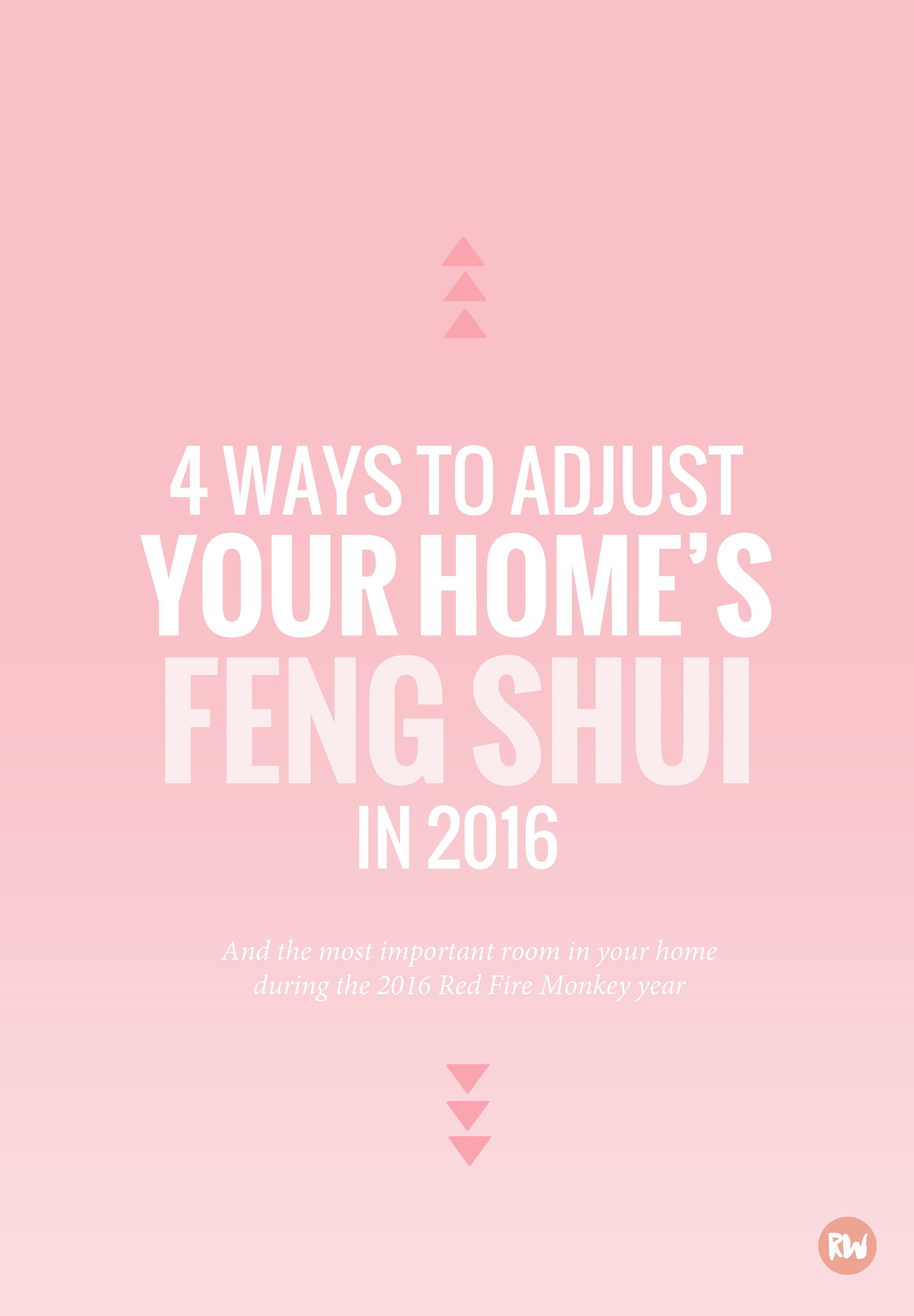 Make sure your home is prepared for the feng shui changes coming with the Red Fire Monkey year for 2016! 4 ways to adjust your home's feng shui | Rogue Wood Supply