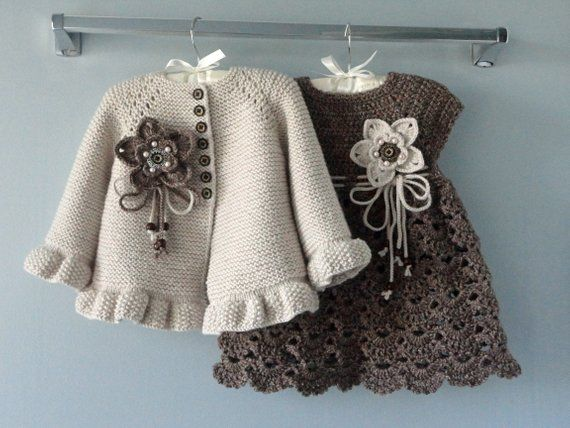 Photo of Crochet Baby Dress Crochet Baby Cardigan Knitted Baby Girl Jacket Baby Girl Outfit Baby Sweater Knitted Baby Dress Baby Girl Gift