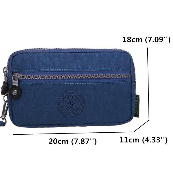 Women Nylon Lightweight Clutches Waterproof Long Wallet Double Zipper Phone Bags…