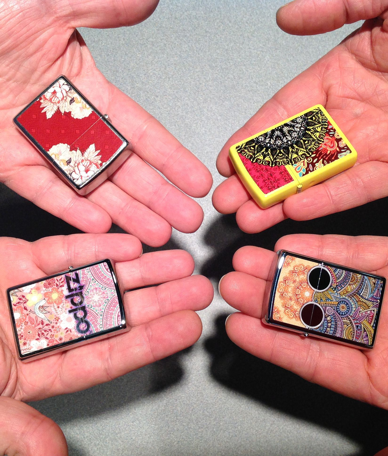 An Eclectic Mix Of Our Newest Line Of Zippo Lighters Cool Lighters Zippo Zippo Lighter