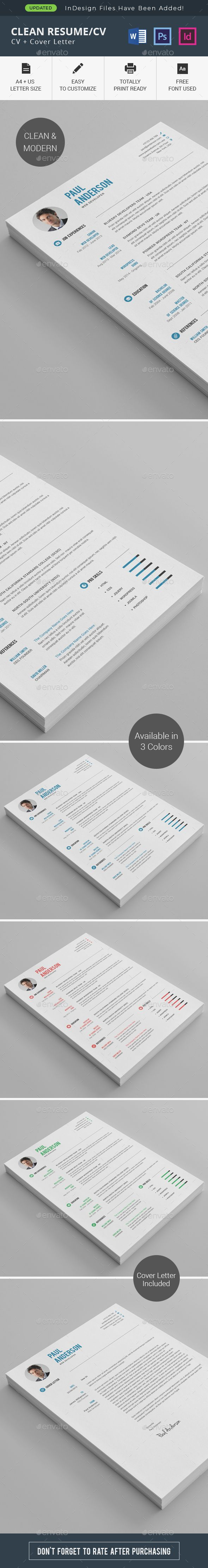 Buy Clean ResumeCV by thstudio on GraphicRiver