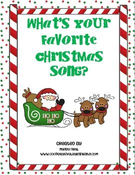 students decide on their favorite christmas song and as a class graph the results students can then create their own graph and answer questions - Favorite Christmas Songs
