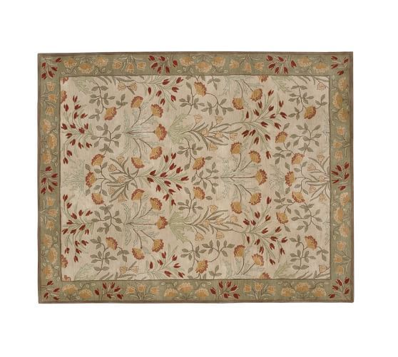 Adeline Rug   Multi | Pottery Barn Ours Is Darker Green 5x7 In Current  Living Room
