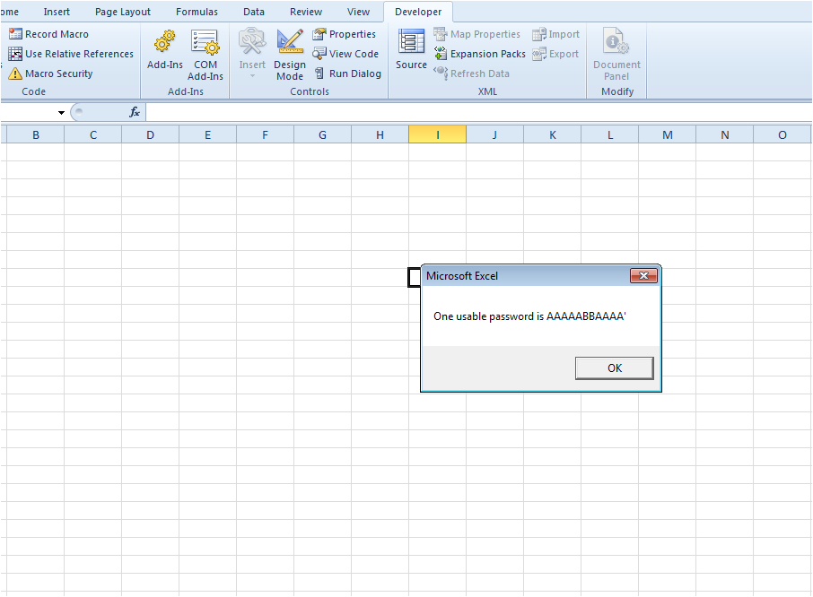 How to unlock/unprotect a password protected Excel