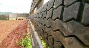 Used Tire Corral Fencing 4 Cattle Tyres Recycle Fence Used Tires