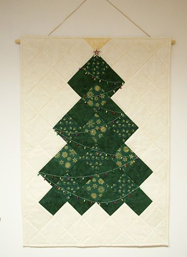 Easy Patchwork Christmas Tree Wall Hanging Christmas Tree Wall Hanging Tree Wall