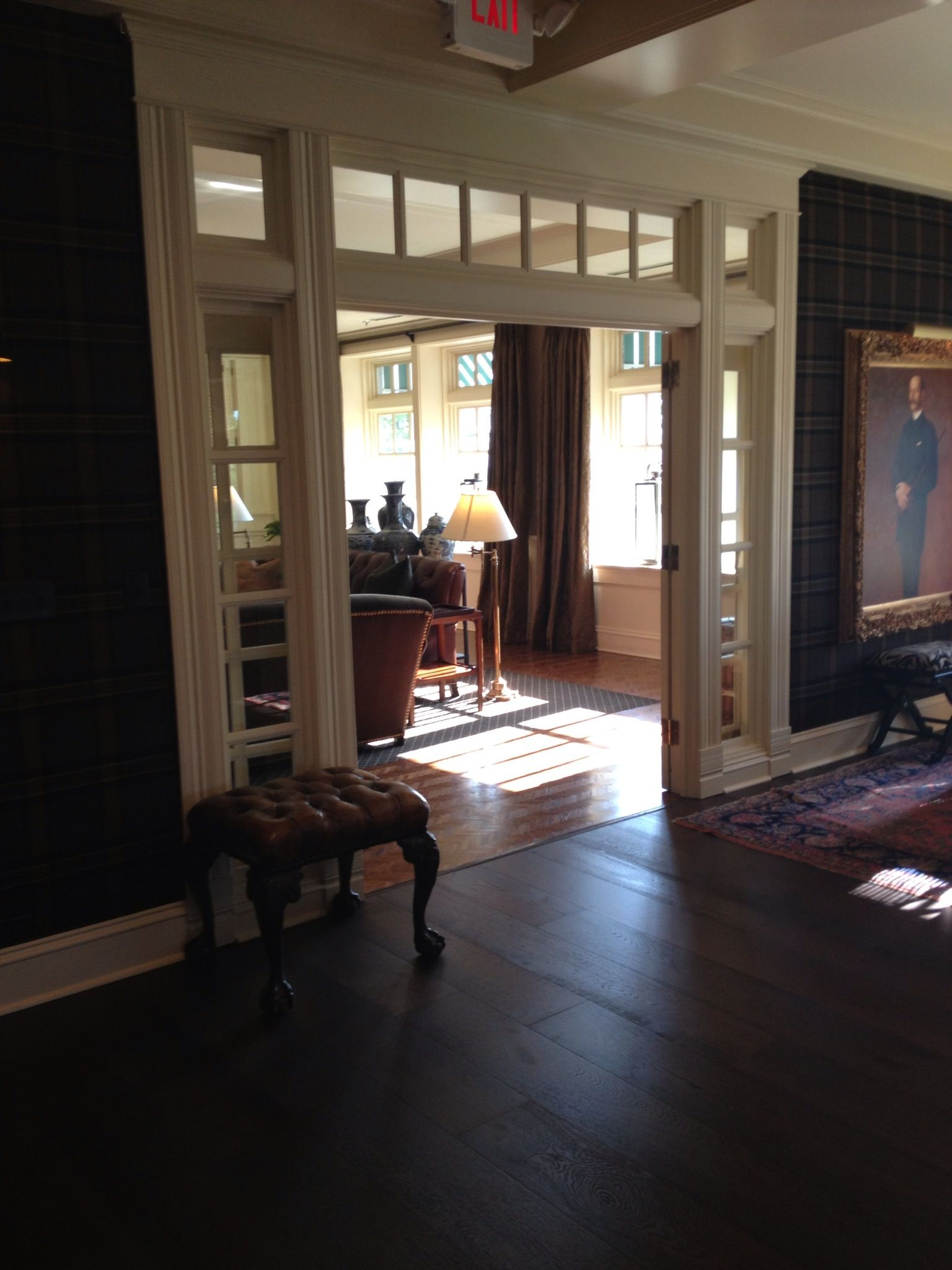 Interior french doors with sidelites edina country club for Interieur french