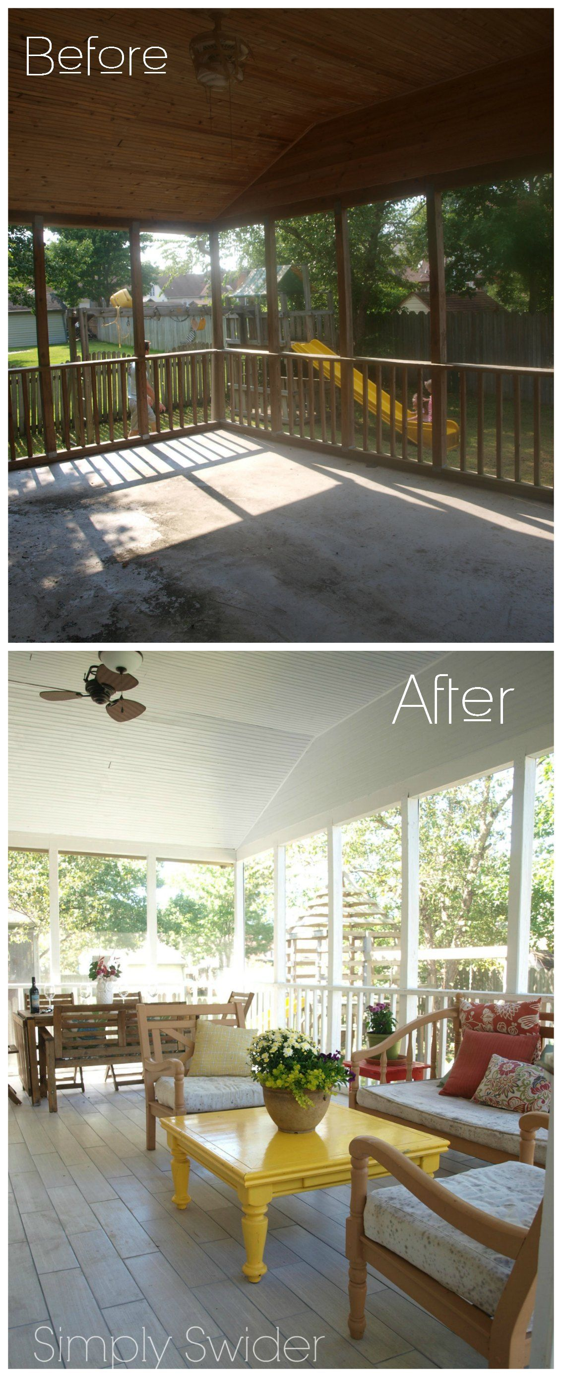 Screened In Porch Makeover Reveal Phase 1 Simply Swider Porch