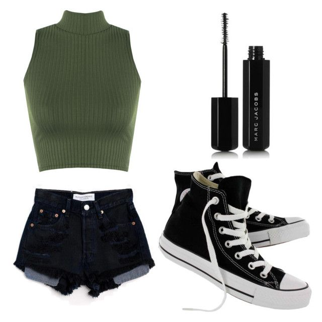 Casual Croptop by mdomo on Polyvore featuring polyvore fashion style WearAll Converse Marc Jacobs Levi's clothing