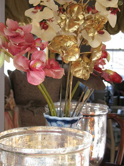 Gilded orchids for Christmas