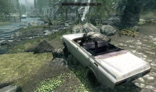 Skyrim Car Mod | cool cars | Skyrim mods, Car videos, Car mods